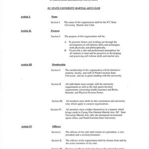 Martial Arts Club constitution