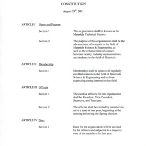 Materials Research Society constitution