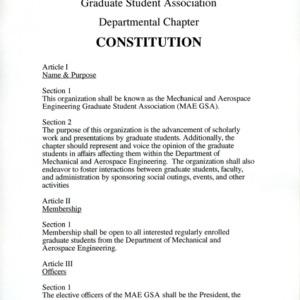 Mechanical and Aerospace GSA constitution