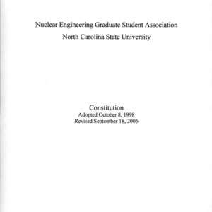 Nuclear Engineering GSA constitution