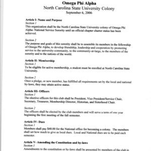 Omega Phi Alpha constitution
