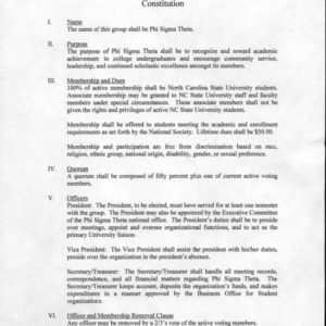 Phi Sigma Theta constitution