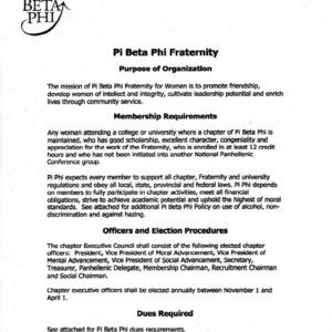 Pi Beta Phi constitution