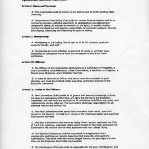 Sailing Club constitution