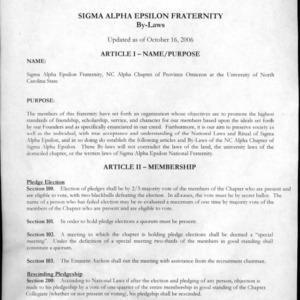 Sigma Alpha Epsilon constitution