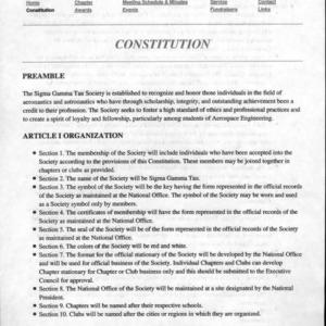 Sigma Gamma Tau constitution
