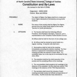 Sigma Tau Sigma constitution