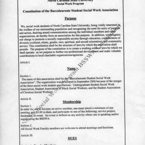 Student Social Work Association constitution