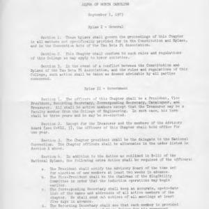 Tau Beta Pi Engineering Honor Society, North Carolina Alpha Chapter constitution