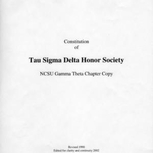 Tau Sigma Delta constitution