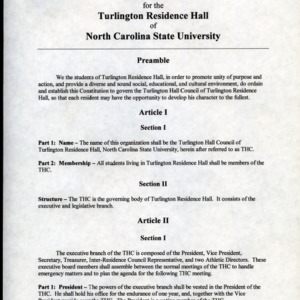 Turlington Hall Council constitution
