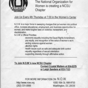Wolfpack National Organization for Women constitution