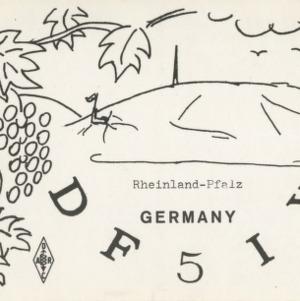 QSL Card from DF5IY, Rheinland-Pfalz, Germany, to W4ATC, NC State Student Amateur Radio