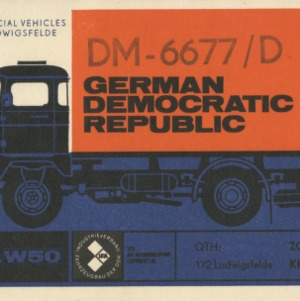 QSL Card from DM-6677/D, German Democratic Republic, to W4ATC, NC State Student Amateur Radio
