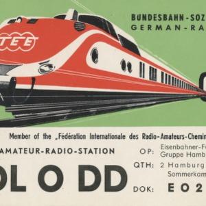 QSL Card from DL0DD, Hamburg, Germany, to W4ATC, NC State Student Amateur Radio