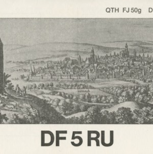 QSL Card from DF5RU, Amberg, Germay, to W4ATC, NC State Student Amateur Radio