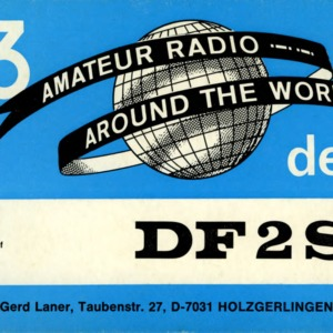 QSL Card from DF2SE, Holzberlingen, Germany, to W4ATC, NC State Student Amateur Radio