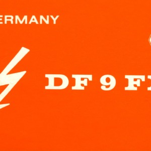 QSL Card from DF9FP, Waldsolms, Germany, to W4ATC, NC State Student Amateur Radio