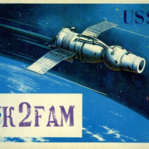QSL Card from UK3FAM, Moscow, USSR, to W4ATC, NC State Student Amateur Radio