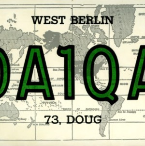 QSL Card from DA1QA, Berlin, Germany, to W4ATC, NC State Student Amateur Radio