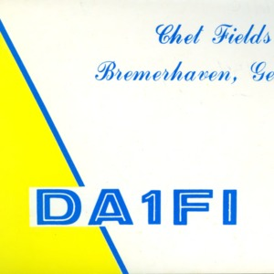 QSL Card from DA1FI, Bremerhaven, Germany, to W4ATC, NC State Student Amateur Radio