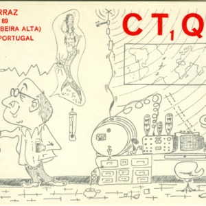 QSL Card from CT1QN, Viseu, Portugal, to W4ATC, NC State Student Amateur Radio