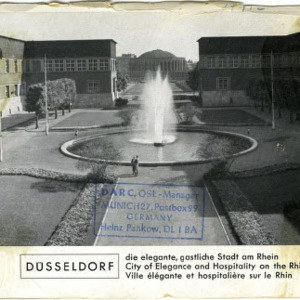 QSL Card from DL3ND, Dusselforf, Germany, to W4ATC, NC State Student Amateur Radio