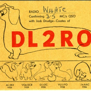 QSL Card from DL2RO to W4ATC, NC State Student Amateur Radio