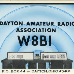 QSL Card from W8BI, Dayton, Ohio, to W4ATC, NC State Student Amateur Radio