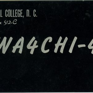 QSL Card from WA4CHI-4, Mars Hill College, N.C., to W4ATC, NC State Student Amateur Radio