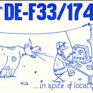 QSL Card from DE-F33/17466, Nidda, Germany, to W4ATC, NC State Student Amateur Radio
