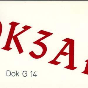 QSL Card from DK3AE, Broichweiden, Germany, to W4ATC, NC State Student Amateur Radio