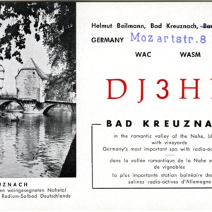 QSL Card from DJ3HD, Bad Kreuznach, Germany, to W4ATC, NC State Student Amateur Radio