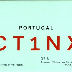 QSL Card from CT1NX, Lisboa, Portugal, to W4ATC, NC State Student Amateur Radio