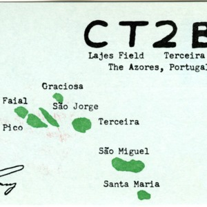 QSL Card from CT2BG, Terceira Island, The Azores, to W4ATC, NC State Student Amateur Radio