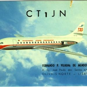 QSL Card from CT1JN, Lisboa, Portugal, to W4ATC, NC State Student Amateur Radio