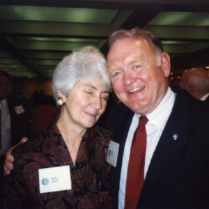 Betty Owen and William S. Lee at the 1990 Emerging Issues Forum