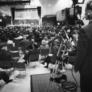 UNC-TV camera crew filming the 1994 Emerging Issues Forum