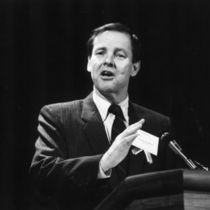 Governor Tom Kean at the 1989 Emerging Issues Forum