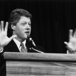 Governor Bill Clinton at the 1988 Emerging Issues Forum