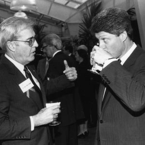 Lt. Governor Bob Jordan and Governor Bill Clinton at the 1988 Emerging Issues Forum