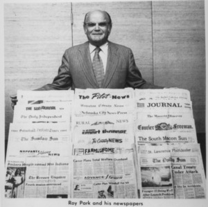 Roy Park and his newspapers