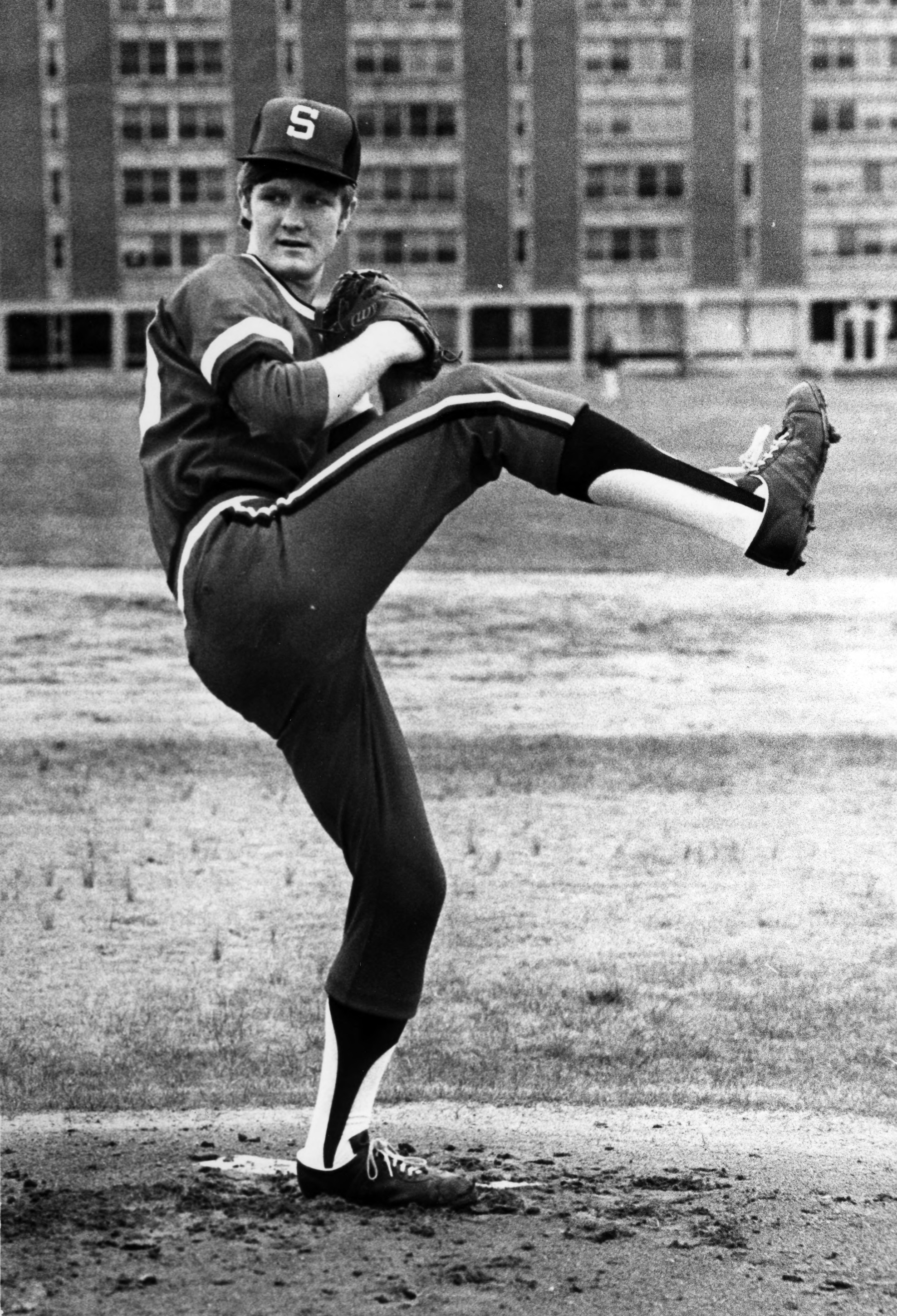 Pete Lupien, pitcher for North Carolina State, 1974
