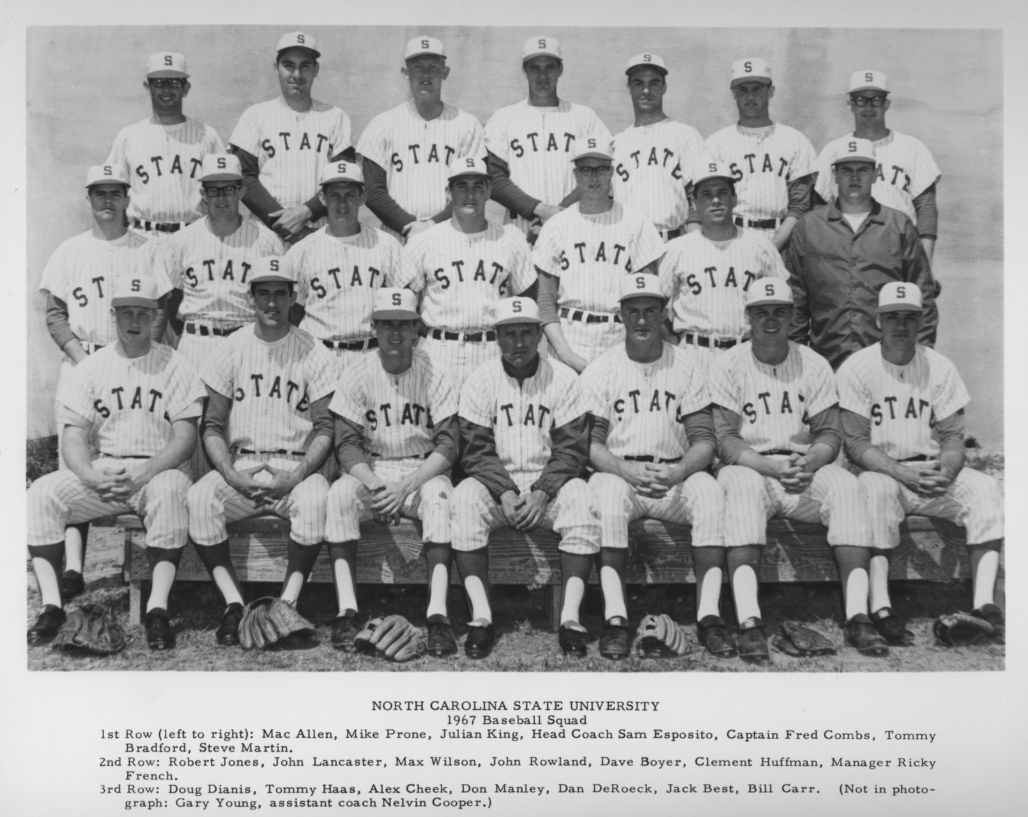 North Carolina State College baseball team, 1967