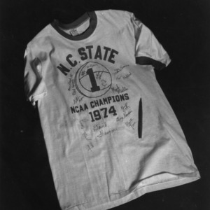 Autographed N. C. State basketball shirt