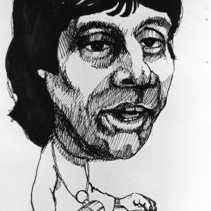 Caricature of Coach Jim Valvano