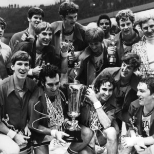 N. C. State's 1972-1973 ACC champions celebrate after title game