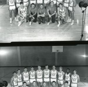 Men's basketball team group photos