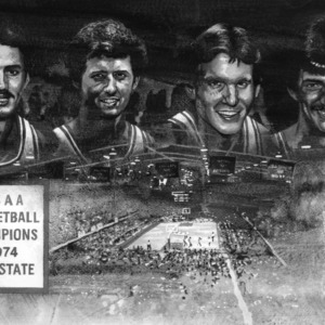 Painting of NCAA Basketball Champions, N. C. State