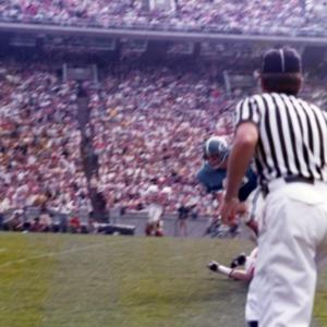 N. C. State and U.N.C. football game